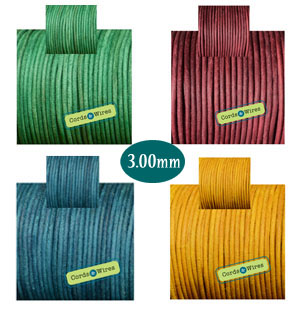 rough dyed leather cord 3.00mm